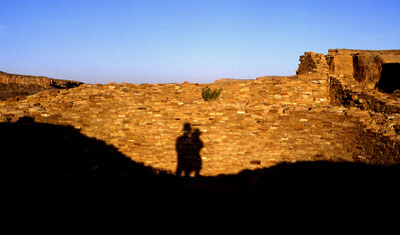 kiva shadows, Chaco Canyon