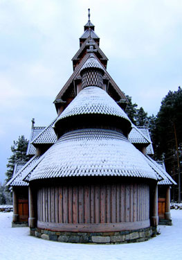 frosted stavkirke